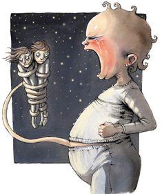Om babyen i DBMagasinet Lisa, Funny Art, Book Illustration, Art Forms, Illustrators, Graphic Art, Norway, Barn, Drawings