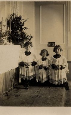 Imperial Altar Boys, c. 1921 - sons of Emperor Karl of Austria