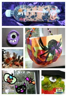 Pink and Green Mama: Easy Halloween Craft Ideas!