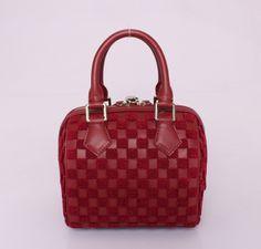 Louis Vuitton 2013 Speedy Veske M42237 Mørk Red