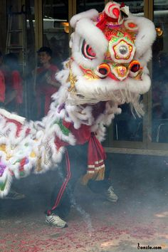 Love these costumes! Looks just like the ones at the Chinese new year celebration in Vegas a couple years ago :) -Chinese New Year Dragon Dance Chinese Lion Dance, Chinese New Year Dragon, Folk Religion, Dance Wallpaper, Lion Dragon, Dragon Dance, China Art, Spring Festival, Carnivals