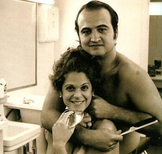 Gilda Radner and John Belushi.  SAD TO SAY BOTH OF THOSE FUNNY PEOPLE ARE PASSED ON RIP FUNNY ONES