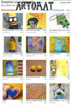 etsy treasury I made a long time ago with artomat artists