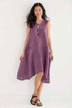 Faye Dress by Cynthia Ashby (Linen Dress)   Artful Home