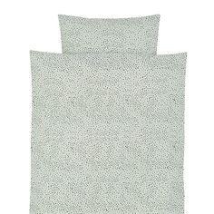 Ferm Living Mint Dot Cot Bed Bedding