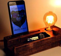 Papa Light. Edison lamp, Wood Lamp, loft Trends, Dock station. Wood lamp for good people.