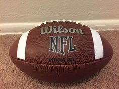 Wilson TDS NFL Official Size 9 Rubber Cover American Sports Football: BRAND NEW