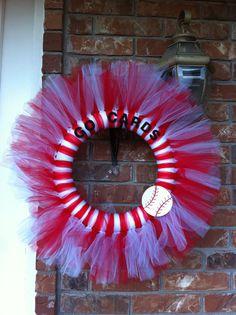 St Louis Cardinal Tulle Wreath on Etsy, $30.00
