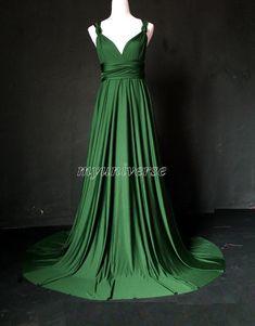 Deep Green Bridesmaid Dress Wedding Dress Infinity by myuniverse