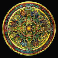 Love the colors and design of this Celtic cross