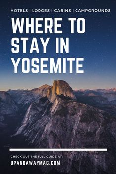 travel destinations winter Where to stay in Yosemite National Park, California. 20 of the best places to stay in and near the national park ranging from lodges to cabins to campgrounds and glamping. The best of Californias national parks. Yosemite National Park Lodging, Yosemite Lodging, National Park Camping, Yosemite Camping, California National Parks, Zion National Park, California Travel, Yosemite California, Dreams