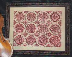 cross stitch patterns : Rosetta Ink Circles geometric sampler monochromatic counted hand embroidery The Cottage Needle