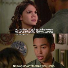 "#TheFosters 3x17 ""Sixteen"" - Callie and AJ"