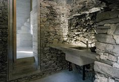 200-year-old stone house in Linescio, Switzerland remodeled interior, same exterior
