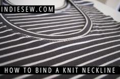 Indiesew.com Blog | How to Bind a Knit Neckline
