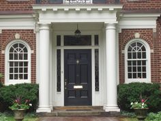 Colonial Front Door Entrance . & Colonial Front Door Trim - Bing Images | Home decorating ideas ... Pezcame.Com
