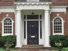 Colonial Front Door Entrance . & Colonial Front Door Trim - Bing Images | Front Doors | Pinterest ...
