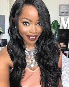 Gorgeous Wavy Hair  #blackbeauty #makeup #fashionclothes #haircut #blackgirls  cheap full lace wigs for black women cheap brazilian straight hair cheap lace frontal