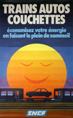 Wish this service was popular in the USA - Train Auto Carriers Couchettes - 1980s.