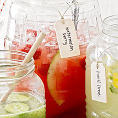 Watermelon Berry Lemonade -- perfect for your next summer bbq! // via BHG.com