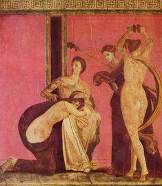 Villa of the Mysteries - Fresco depicting a Bacchian rite.