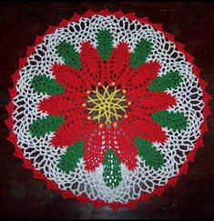 Free Crochet Patterns: Poinsettia Doily - Free Pattern