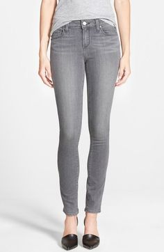 PAIGE 'Transcend - Verdugo' Ultra Skinny Jeans (Silvie) available at #Nordstrom