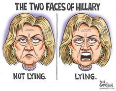 Image result for hillary clinton i know nothing caricature