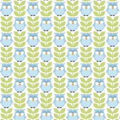 4105 - Corujas com Folhas - Fabricart Tecidos
