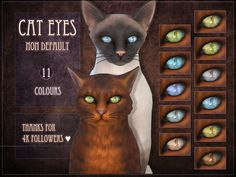 Sims 4 CC's - The Best: Cat Eyes by RemusSirion