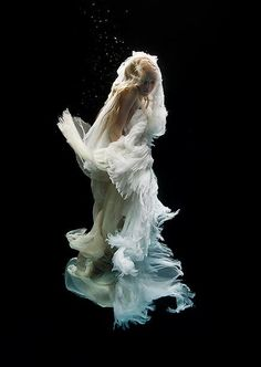 There is something so beautiful and haunting about these underwater photos by Zena Holloway.