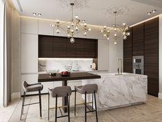 Marsala e Dourado. Apartamento contemporâneo com toques clássicos