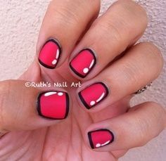 Cartoon nail art  #nailart #beauty #diy