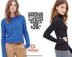 Compra un #sweater y llévate una #blusa por $29.90. en #Blitzer. @eldoradoslp