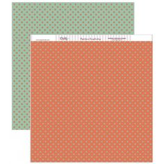 Papel scrap con estrellas verdes y naranjas #scrap #conideade #manualidades