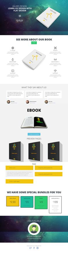 Anubis-Ebook landing page by Gustav Garnievski, via Behance