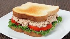 I love tuna salad sandwiches, this is combination of the different deli tuna salad recipes I've used over the years. Croissant Sandwich, Salad Sandwich, Sandwich Recipes, Salad Recipes, Subway Sandwich, Healthy Food Delivery, Easy Healthy Recipes, Chicken Recipes, Healthy Lunches