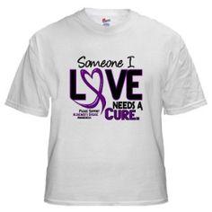 Alzheimer Awareness Products | Needs A Cure Alzheimer's Disease Awareness T-Shirts, Apparel, Gifts ...