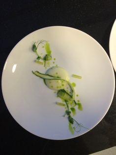 Cucumber asparagus wild garlic