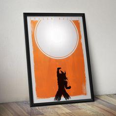 Dragon Ball Z Inspired Minimal Poster - Goku Anime Art - DragonBall Z Minimal Wall Art