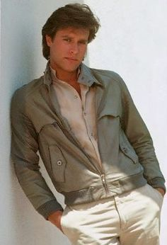 John James as Jeff Colby. Tvs, Dynasty The Reunion, Dynasty Tv Series, Der Denver Clan, Dallas Tv Show, John James, Evolution Of Fashion, Tv Soap, Best Model