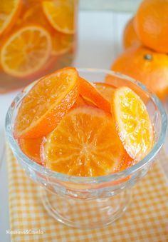 Mandarinas confitadas