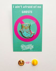 Pug Ghost Enamel Pin that Glows in the Dark by by NatashaTsozik