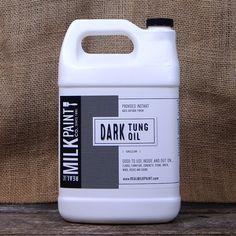 Milk Paint Dark Tung Oil Counter