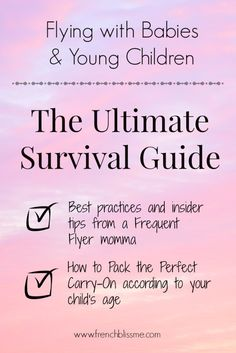 Flying with Young Children and Babies : The Ultimate Survival Guide | www.frenchblissme.com