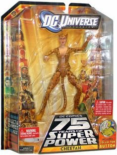 DC Universe Classics Cheetah in Spotted Suit 6-Inch Scale Action Figure Wave 13 Figure 5 by Mattel. $10.70. Highly detailed with superior articulation. DC Universe Classics Wave 13 - Classic Cheetah. Includes collector button. figure measures about 6 inches tall. Includes Collect to Connect Build a Figure piece - Trigon's right leg. This classically styled and highly detailed DC Comics Figure is authentically sculpted with superior articulation. The figure comes wi...