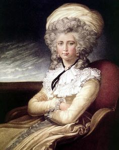 Rose-Adélaïde Ducreux. Así se vio en el año 1790