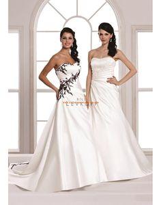 Balayage / pinceau train Sans manches Appliques Robes de mariée 2014