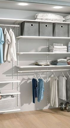 Walk-in closet for pitched roof and dressing room Schlafzimmer Wohnklamotte . Walk-in closet for pitched roof and dressing room Schlafzimmer Wohnklamotte Diy Dressing, Dressing Room Design, Dressing Rooms, Closet Storage, Bedroom Storage, Closet Organization, Organization Ideas, Bathroom Closet, Closet Bedroom