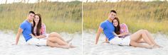 engagement photo for a young couple  | Engagement pictures in front of the sea oats at sunset - Myrtle Beach ...